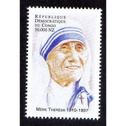 Congo Brazzaville MNH, Mother Teresa, Nobel Peace