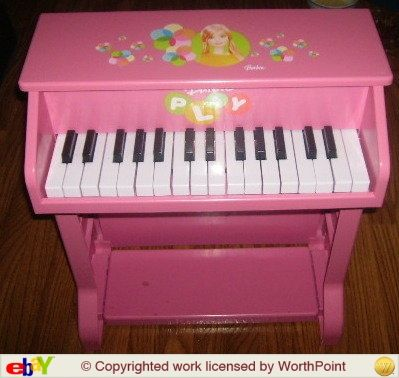 Daughter S Child S Upright Mattel Barbie Piano Amp Stool