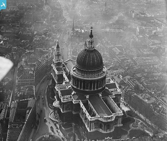 March 1921: St Paul's Cathedral, LondonPhotograph: English Heritage/PA