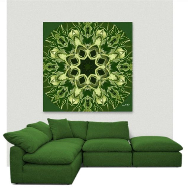 """Unopened Sunflower"" Acrylic Glass Wall Art - Greenery by Khoncepts"