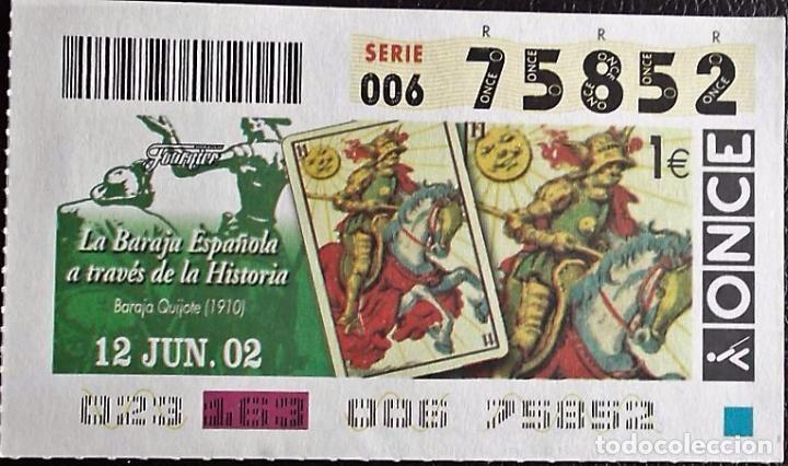 España. ONCE. 2002. Baraja Quijote (1910): Caballo de Oros. Fecha: 12.Junio