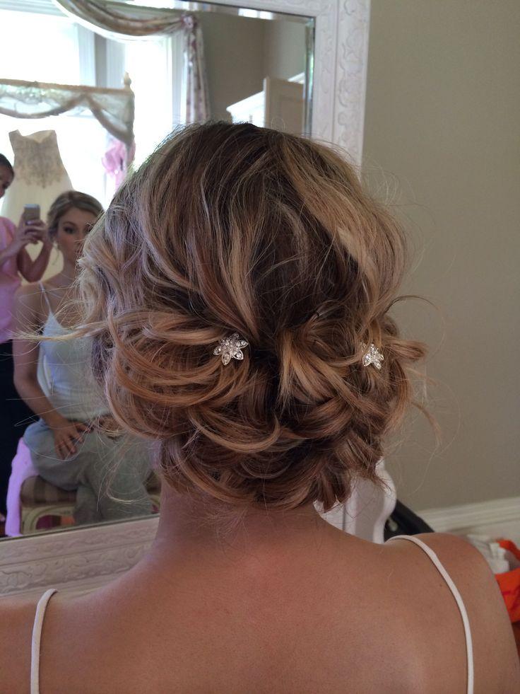 Bridal Hair - Romantic & pretty  www.zoekarlismakeup.com.au