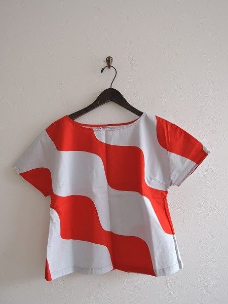 マリメッコ marimekko コットンプリントシャツ