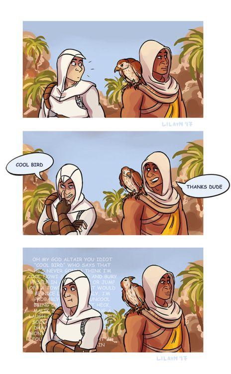 Altair & Bayek. Assassin's Creed.