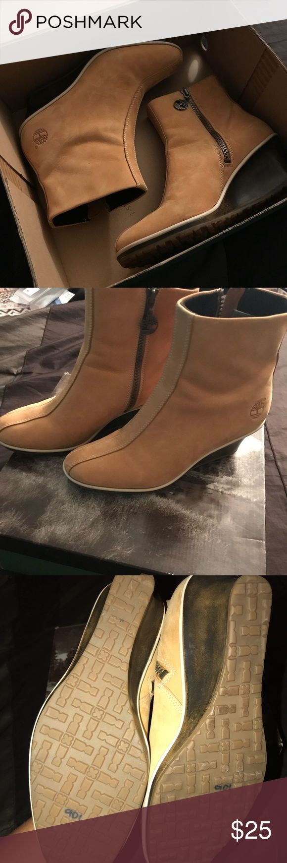 Timberland boots. Worn twice. Great condition Wheat dress Timberlands worn twice. Looks new Timberland Shoes Ankle Boots & Booties