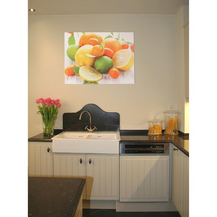 Canvas citrusfruit - Stijlvolle & Betaalbare Wanddecoratie | wanddecoratiestore.be