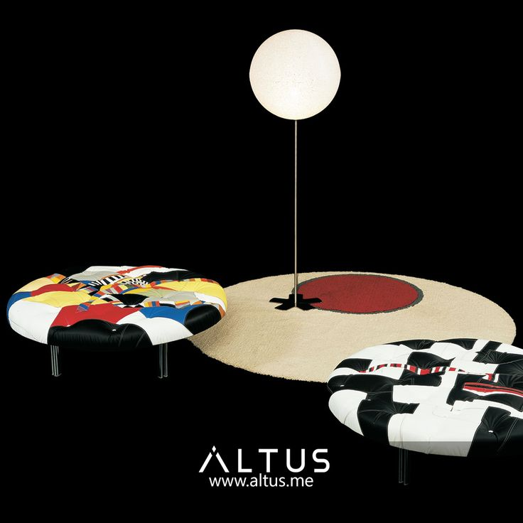 Patchwork pouf from Il Loft, designed by Giorgio Saporiti, made in Italy. www.Altus.me #madeinitaly #design #designer #home #interiordesign #luxury #furniture
