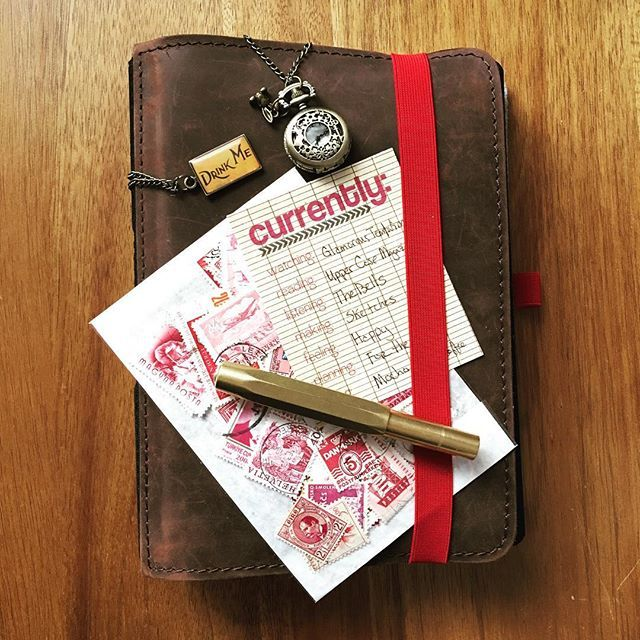 Afternoon with my #roterfaden #traveljournal #journaling #notebook