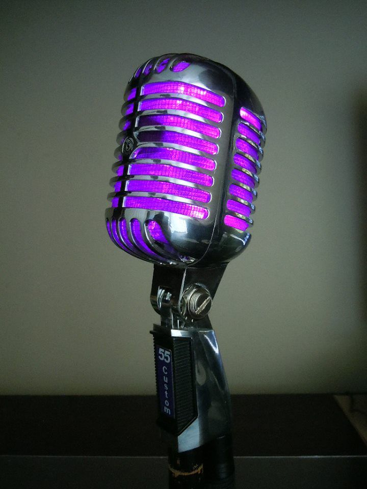 Another Shure 55 This one I made special for a singer in a local band here on Long island.... The First one of my babies I actually agreed to part with.......