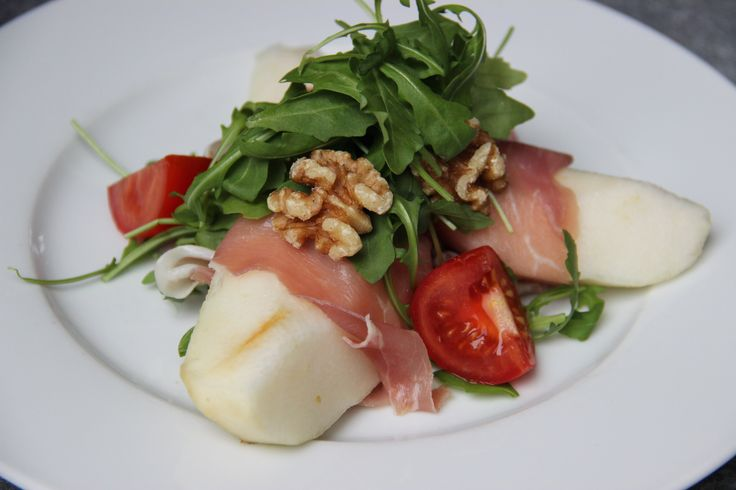 Salad with parma ham and pear - Salade met parmaham en peer