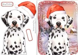 Festive Dalmation on Craftsuprint - View Now!