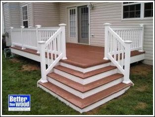 like this small space deck and steps