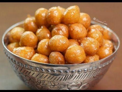 Fried Sweet Dumplings (Skaramati - Burka Macaan) لقمة القاضي - YouTube