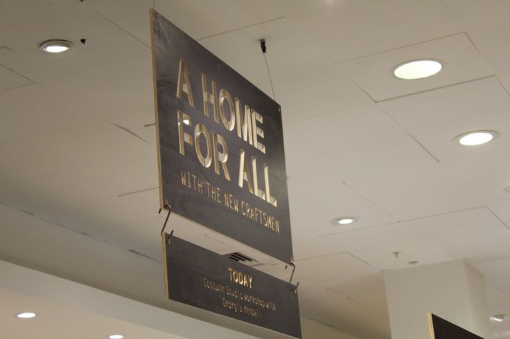 Home For All wood Sign- Selfridges