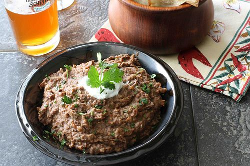 spicy black bean and roasted red and chipotle pepper dip