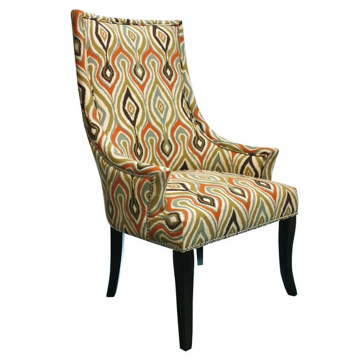 multicolor ikat chatham upholstered chair