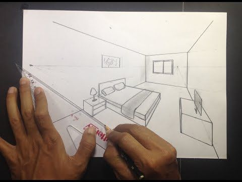 How To Draw A Simple Bedroom In Two Point Perspective 3