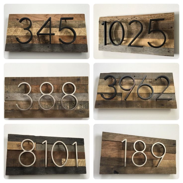 House Numbers - Custom, Reclaimed Wood, Barn Wood, Rustic, Vintage, Metal, Number Sign, Address Plaque, Home Decor, Housewarming Gift Ideas by MadeWithBeerInHand on Etsy https://www.etsy.com/listing/492071392/house-numbers-custom-reclaimed-wood-barn