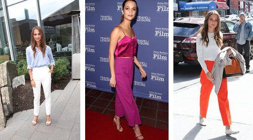 Alicia Vikander har en klassisk och minimalistisk stil som ändå sticker ut. Se hur du kopierar hennes looks här.