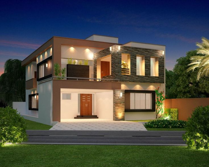 Front Elevation Of Nursing Home : Modern house home contemporary villa