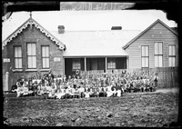Hill End School and pupils, 1872