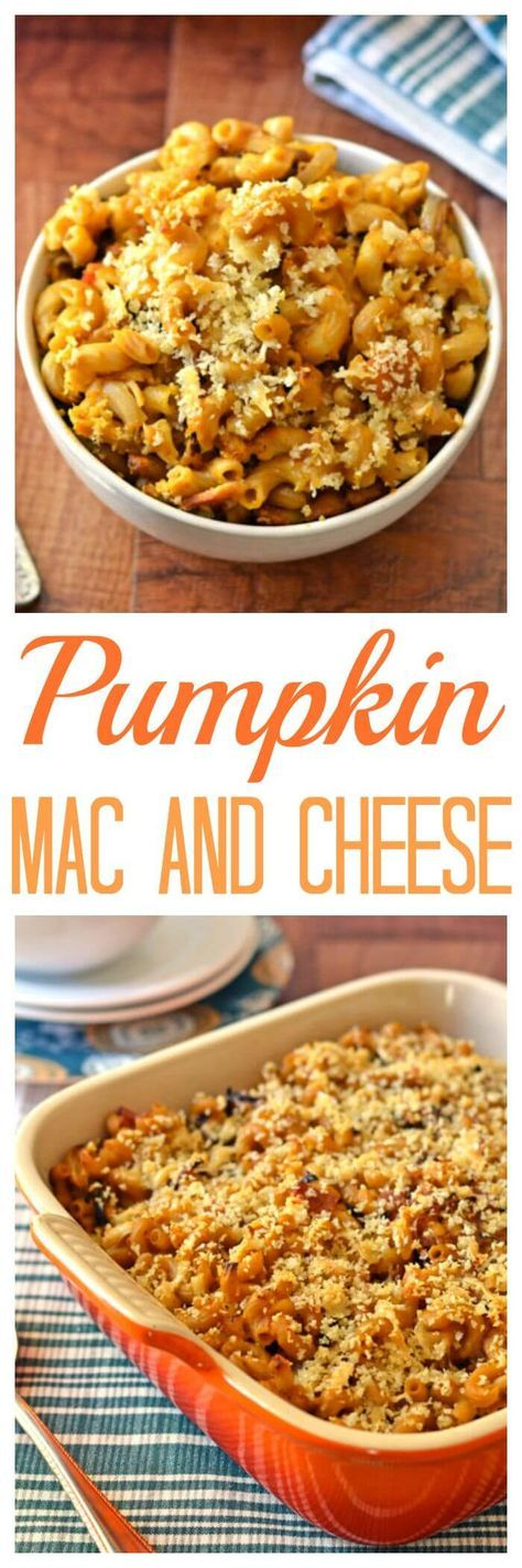 Pumpkin Mac and Cheese with Bacon and Caramelized Onions