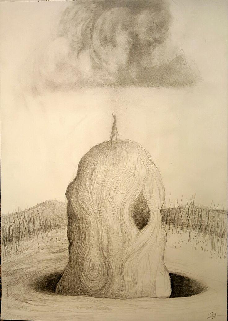 Dark Cloud. Graphite sketch on paper