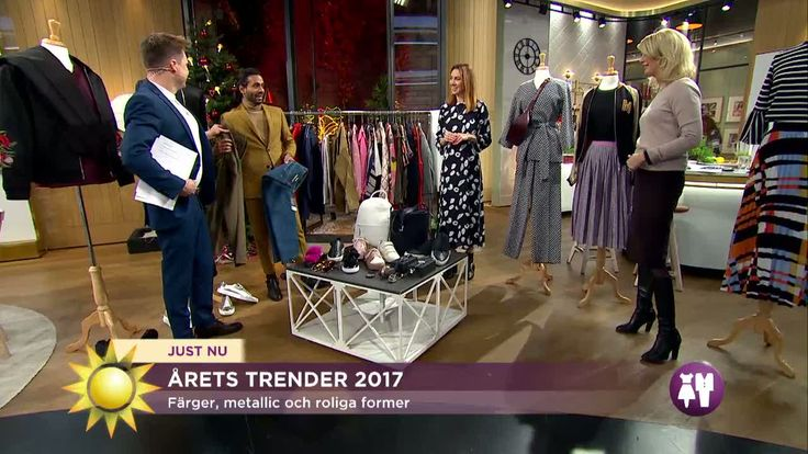2017 - jan. Video - Fashion 2017 - women and man/  (in Swedish) Nytt år - och nytt fräscht mode! Årets modetrender är roliga och färgglada. Silver och metallic är helrätt – liksom tubsockor!