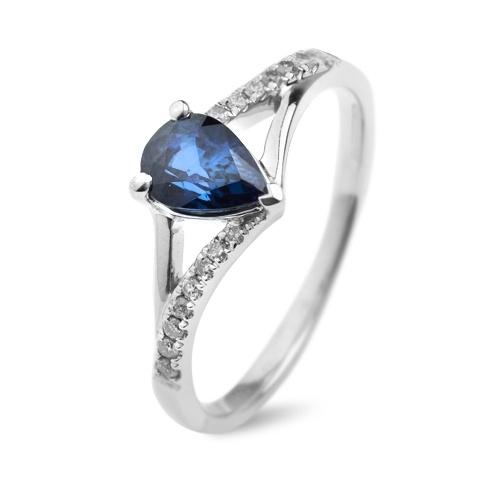 Inel cu safire si diamante C112