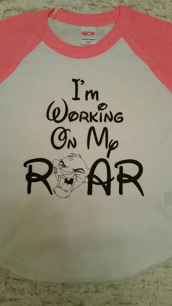 Im working on my roar, Disneys the Lion King inspired shirt. Perfect for your little. Colors can be customized to fit your little girl or boy.