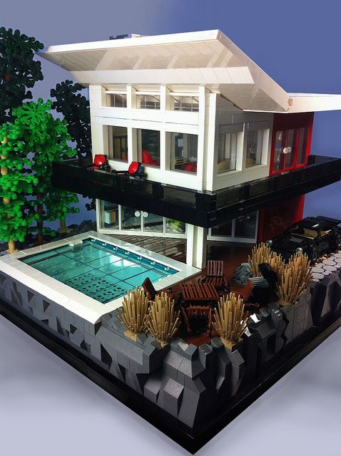Pin by rebecca strong on never too old for legos for Modernes lego haus