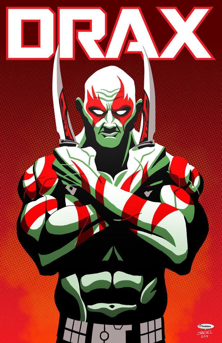 Drax The Destroyer by El-Mono-Cromatico