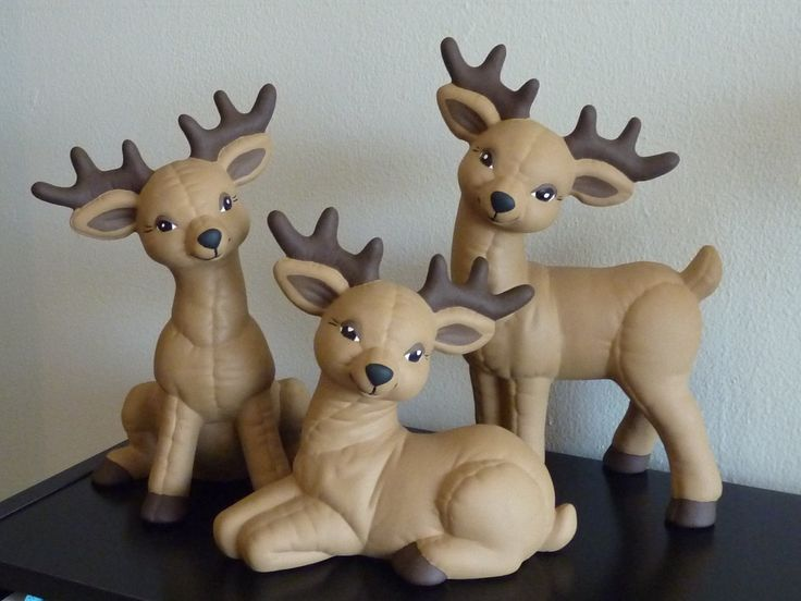 Love my reindeer!  This is before I added ribbons and bells around their necks.