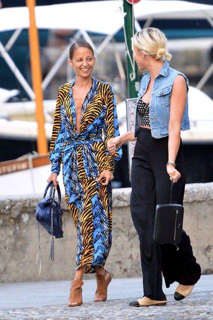 Portofino, Italy - July 16 2013  Nicole Richie.