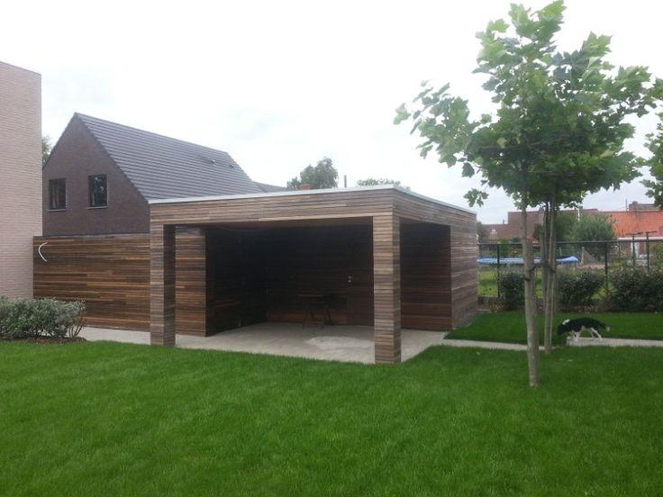 Afgewerkt tuinhuis
