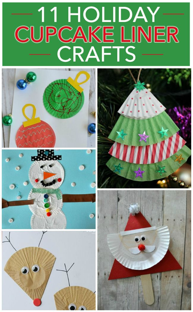 11 Holiday Cupcake Liner Crafts