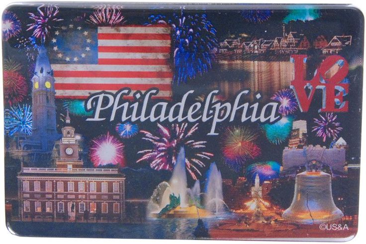 MGPH14 Magnet Thick Lucite Philadelphia Fireworks