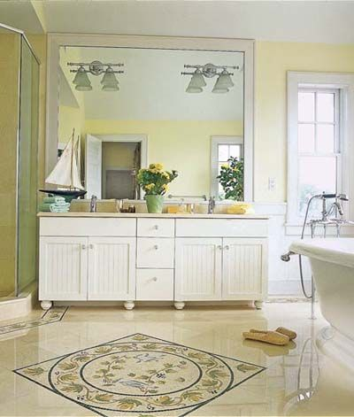 241 best images about bathroom cabinets vanities on pinterest double sink vanity for Floor vanity mirror