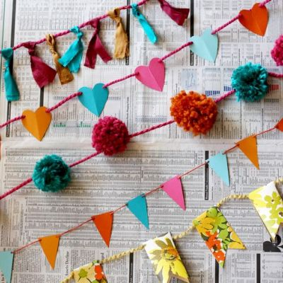 10 easy DIY garlands you can make using paper, pom-poms and other crafty materials | Tip Junkie, from Pepper Buttons #bunting #decorations