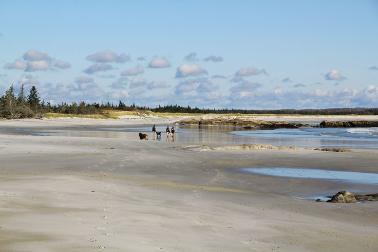 St. Catherines River Beach, one of the Top 10 Beaches in Nova Scotia.