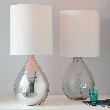 West Elm - For the bedroomBedrooms Lamps, Mercury Glasses, Table Lamps, Jugs Tables, Glasses Jugs, Living Room, Bedside Tables, Tables Lamps, West Elm