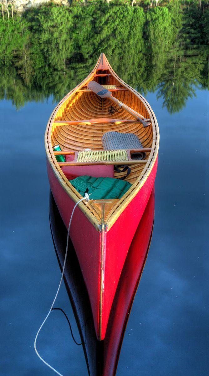 Wooden Canoe at Camp Sagamore Dock