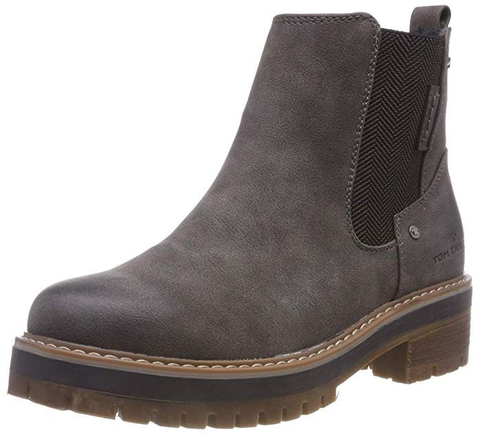 Tom Tailor Women S 5890004 Ankle Boots Grey Coal 00013 3 Uk Boots Ankle Boots Ankle