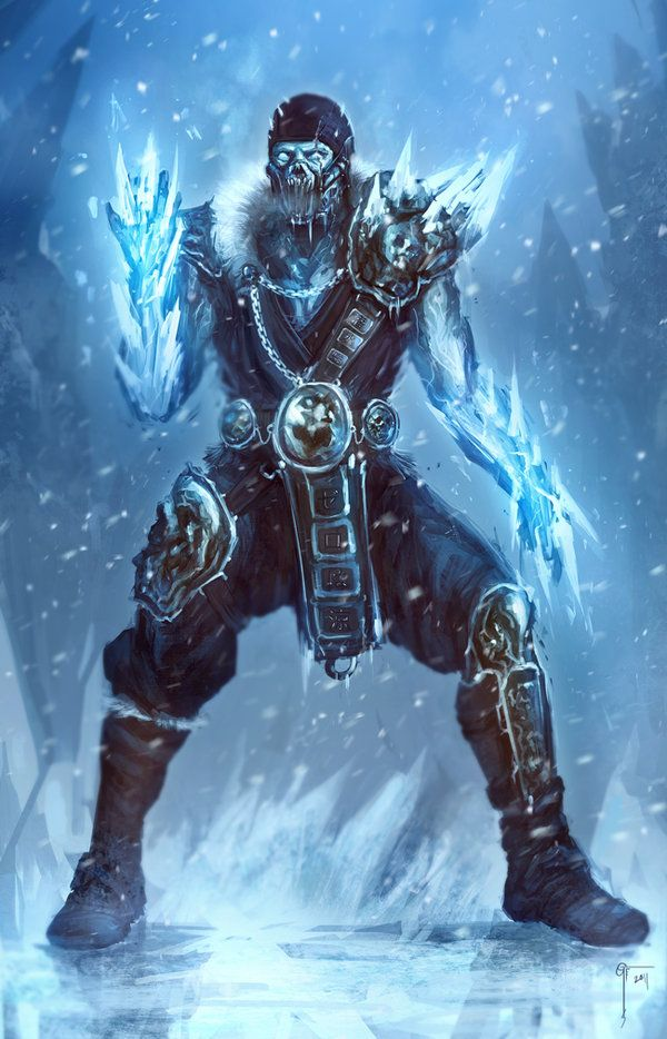 Ice Demon looks for the next prey in the icy waste