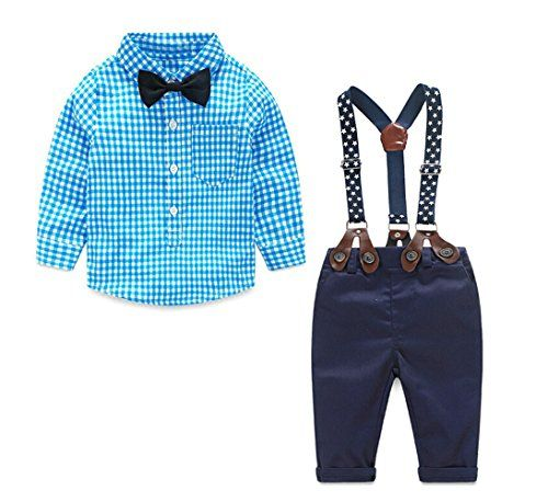 Flashing Zone Baby Boy T-shirt, Suspender Straps and Pant...