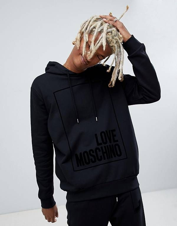 6c905a1bffa6f8 Love Moschino hoodie with box logo in black   Hoodies and ...
