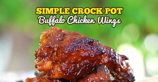 Crock Pot Buffalo Wings are so tender they will melt in your mouth.  The caramelized buffalo sauce is truly enough to make your taste buds sing!  Made in the slow cooker you won't find an easier recipe!  They just about cook themselves.