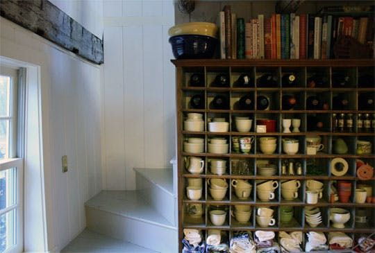 Look! Foyer with Antique Mailbox Cubbies
