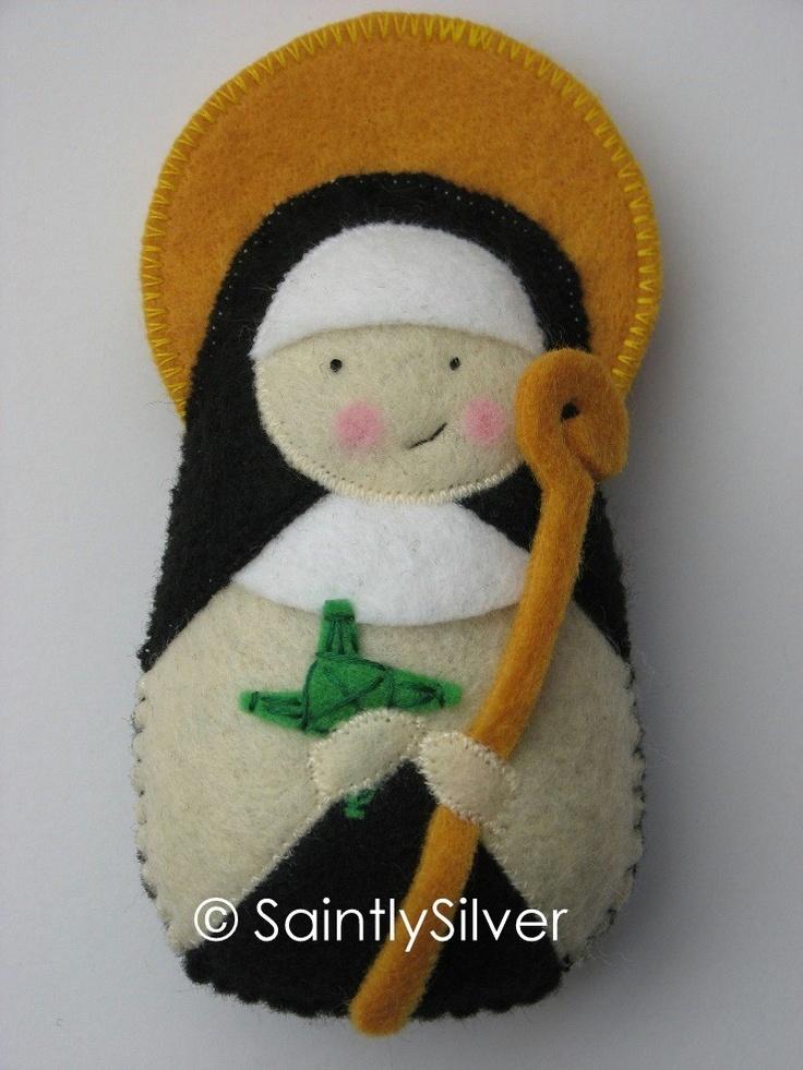 Saint Brigid of Ireland Felt Saint Softie. $18.00, via Etsy.