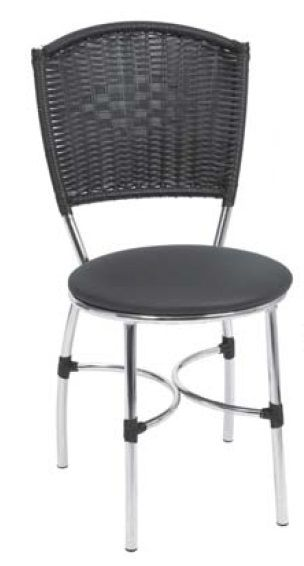 Cadeira Tubular Encosto Junco Sintético Giovana - Fil Móveis